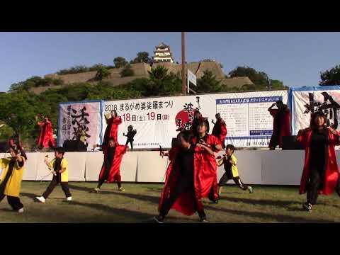 よさこい列伝2018・CORE連(まるがめ婆娑羅まつり)【香川県丸亀市】(平成30年・2018)