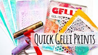 Quick Gelli Plate Printed Papers