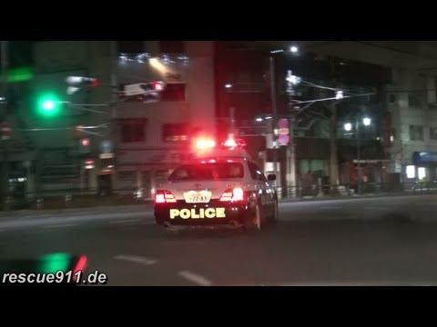 2x Police car Tokyo Police [pursuit camera]