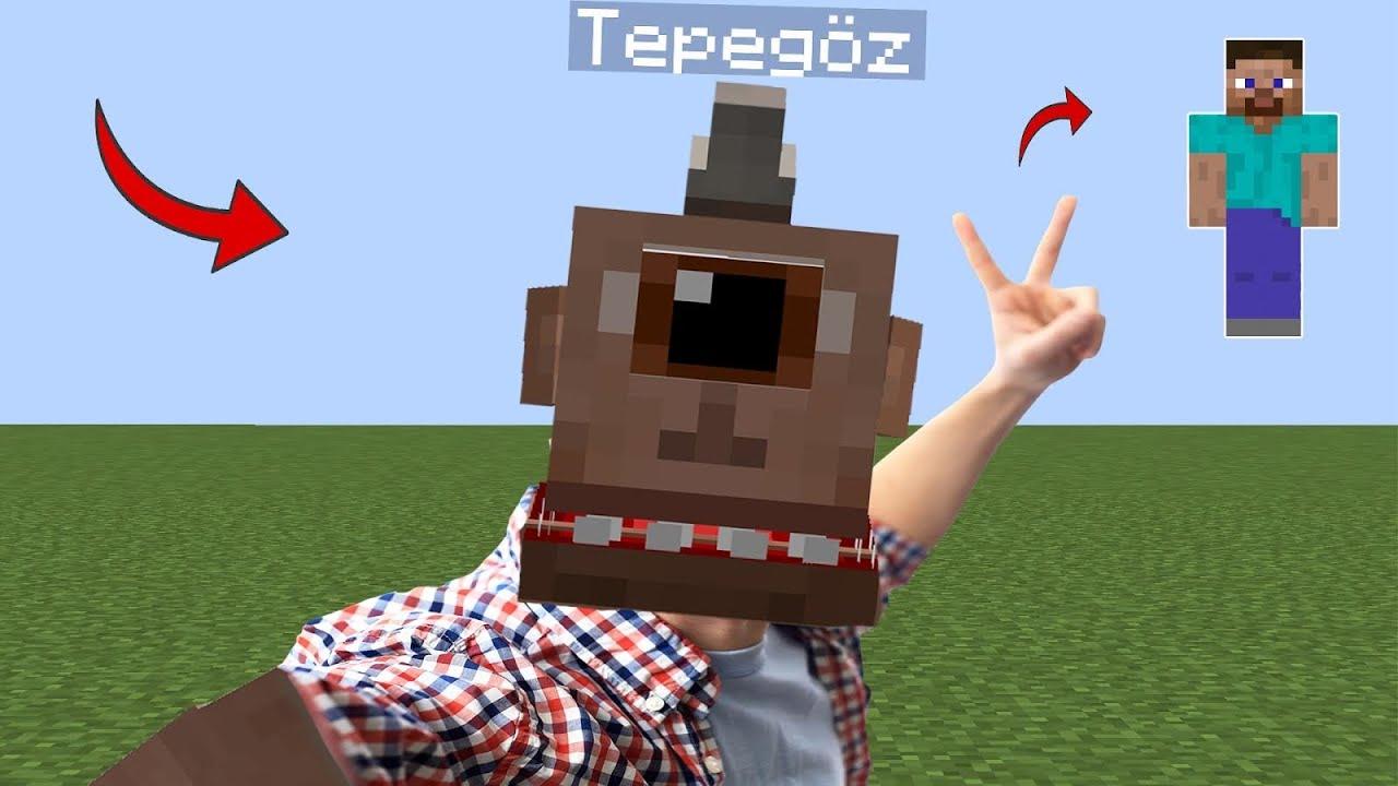 TEPEGÖZ İNSAN OLUYOR! - Minecraft