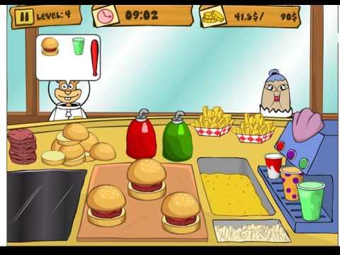 Губка Боб на работе/Spongebob Patty Dash (level 4)