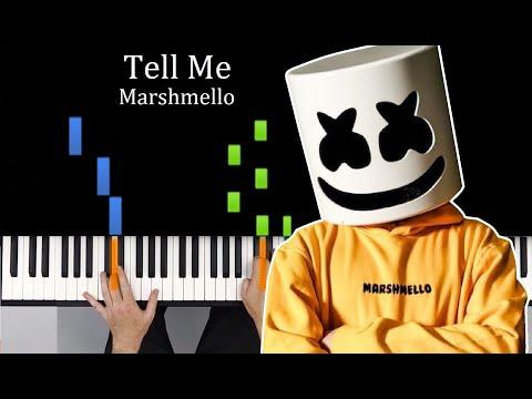 Tell Me - Marshmello PIANO TUTORIAL MIDI Synthesia