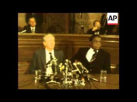 Rhodesian Leader Smith Speaking In Us With With Sithole