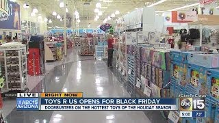 Thanksgiving Day shopping: Valley Toys R Us packed