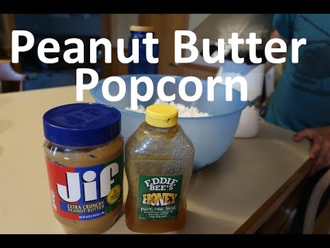 Peanut Butter Popcorn Frugal Large Family Snack