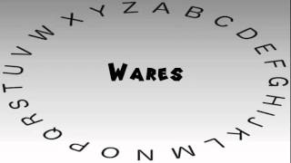 how to say or pronounce wares