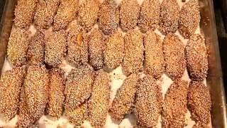تحميل فيديو البقصم العراقي المقرمش اطيب وأسهل وصفه  Crunchy sesame biscuits