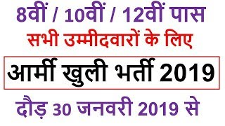 Indian Army Open Rally Bharti 2019, Apply Online On www.joinindianarmy.nic.in, Government Jobs