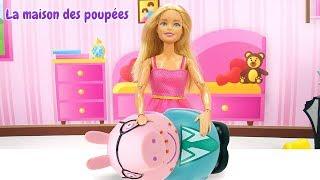 Vidéo en français pour enfants. Barbie ouvre un salon de beauté