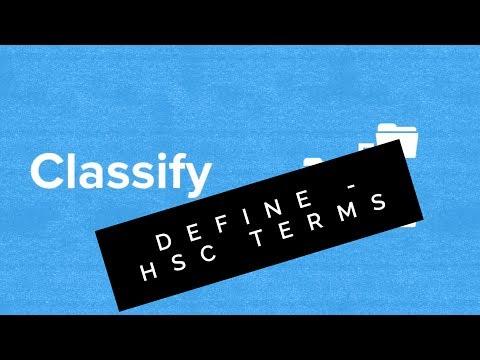 HSC Terms: Define