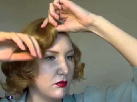 Easy 40s  50s Short Hair Do Using Rollers  YouTube