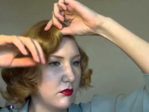 Easy 40s 50s Short Hair Do Using Rollers Youtube