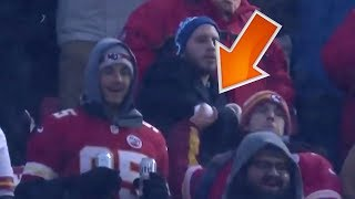 Chiefs Fans Throw Snowballs at Colts Punter in AFC Playoff Game