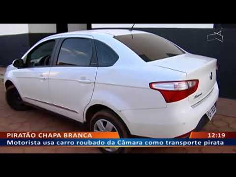DF ALERTA - Motorista usa carro roubado da Câmara como transporte pirata