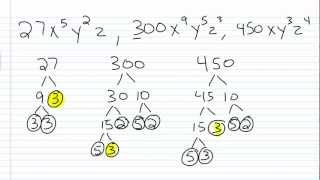 Algebra I Help: How to Find the Greatest Common Factor Part II 2/2