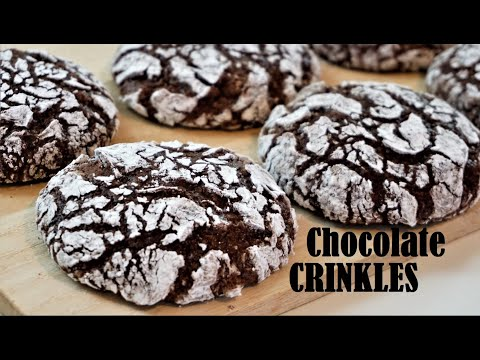 Fudgy And Chewy CHOCOLATE CRINKLES