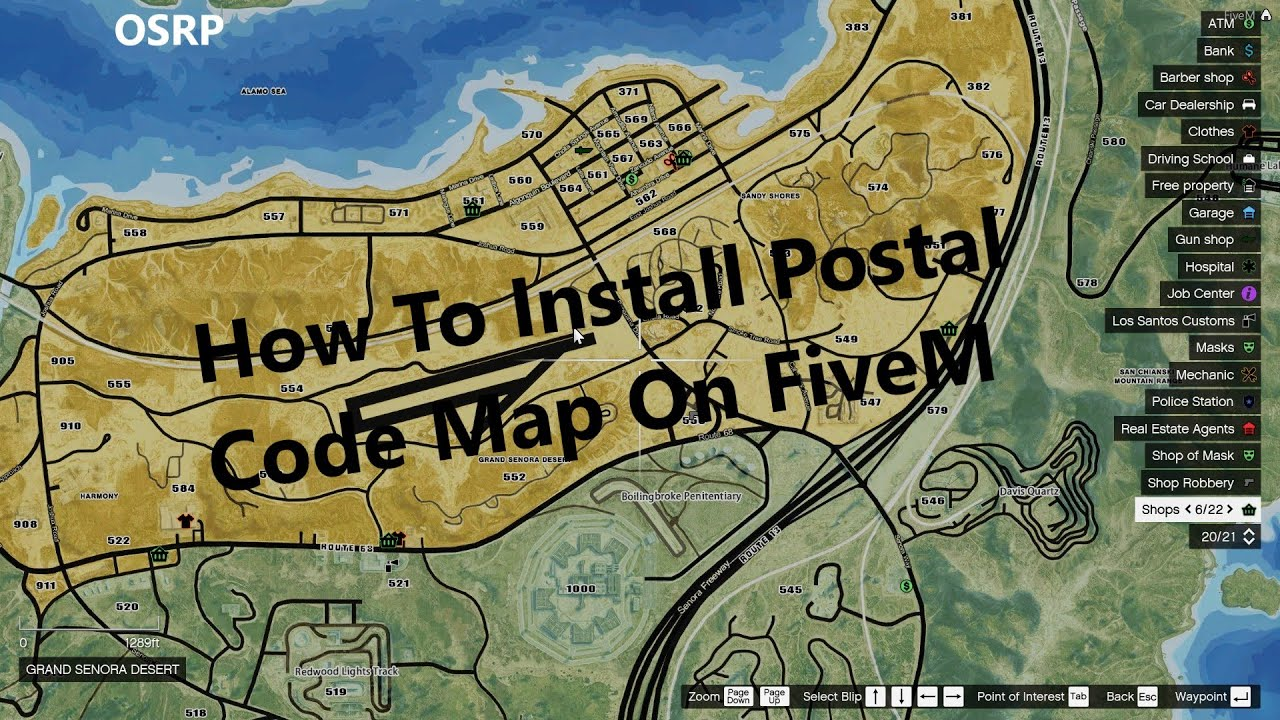 How To Install A Postal Code Map On FiveM (Client side)