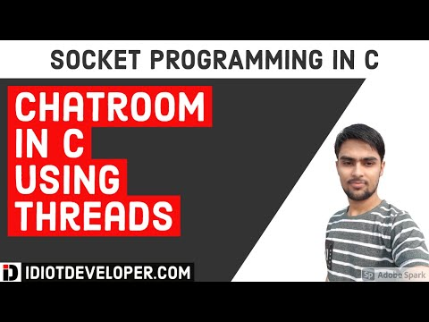 Chatroom in C using Threads | Socket Programming