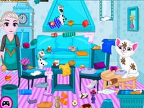 baby elsa kitten room cleaning games for kids full - Baby Room Cleaning Games
