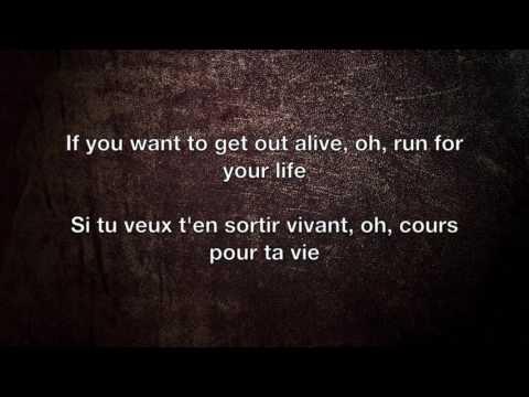 Get Out Alive - Three Days Grace Lyrics English/Français