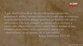 BIBLIA NA CO DZIEŃ: Księga Jeremiasz #32 cz.1
