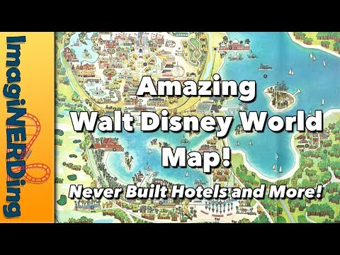 Walt Disney World Vacation Kingdom of the World Vintage Map