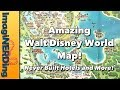 Walt Disney World Vacation Kingdom of the World Vintage Map