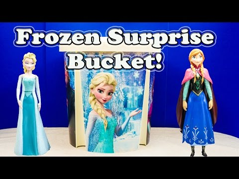 FROZEN Disney Frozen GIANT Surprise Bucket a Disney Frozen Toys Surprise Video
