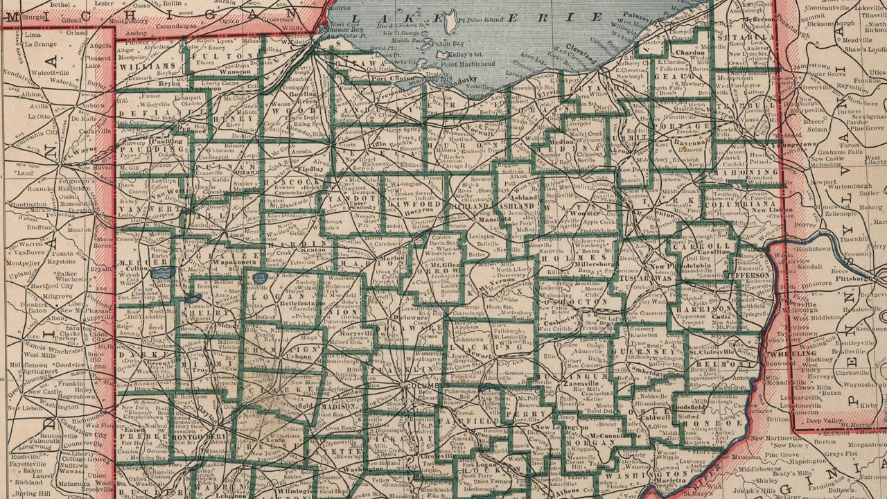 Ohio County Map 1883 YouTube