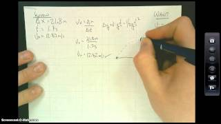 Solving for a Projęctile Angle and Initial Velocity