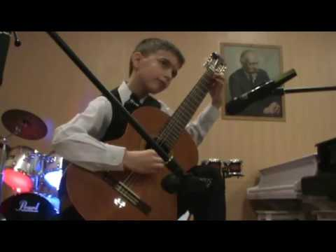 Mikhail Likhachev play Waltz of butterflies (composer M. Likhachev)