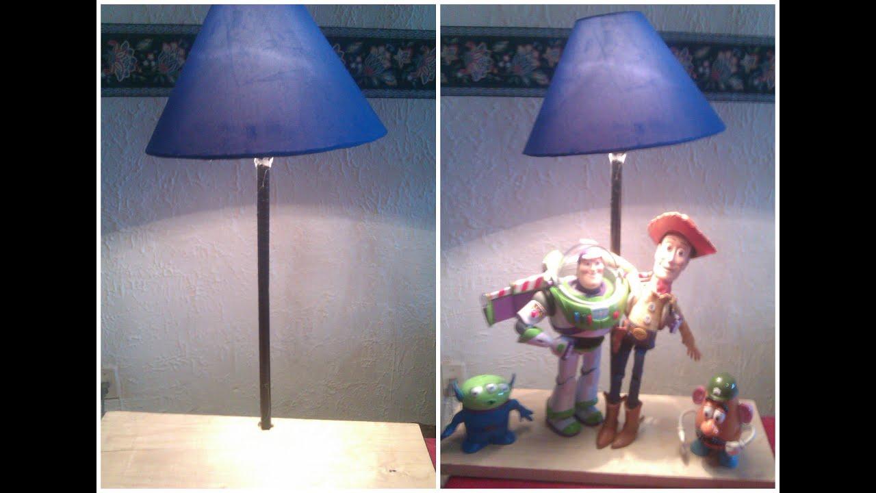 Como hacer una lampara facil rapido y sencillo youtube - Como hacer una lampara de mesa ...