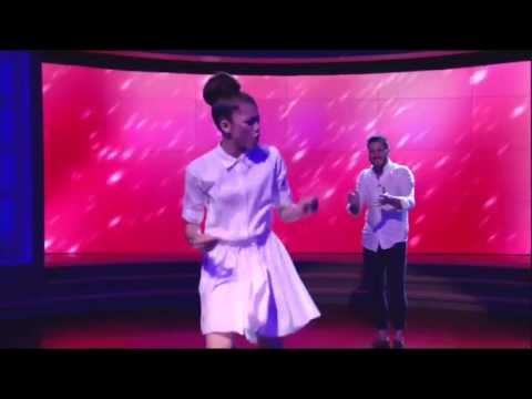 Val Chmerkovskiy & Zendaya dancing Freestyle on Live with Kelly & Michael 5-23-13