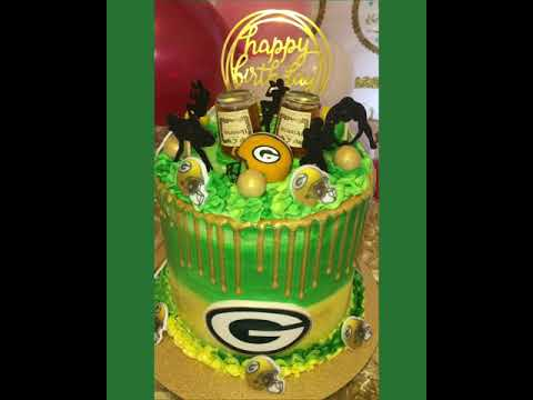Green Bay Packers Themed Cake Youtube