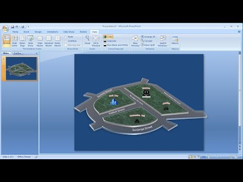 Tutorial powerpoint 2007 |Cara membuat Peta 3D di Powerpoint