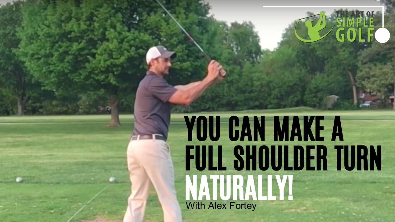 Golf Backswing | Get Full Shoulder Turn Naturally And Easily!