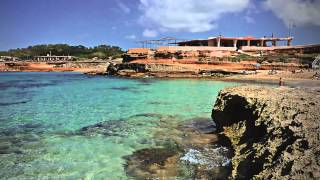 Ibiza Best Beaches, Cala Conta near San Antonio with chill out music