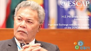 Voices of CS71: H.E. Mr. Enele Sopoaga, Prime Minister of Tuvalu
