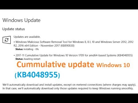 Cumulative Update for Windows 10 Version 1709 for amd64 based Systems  (KB4048955)