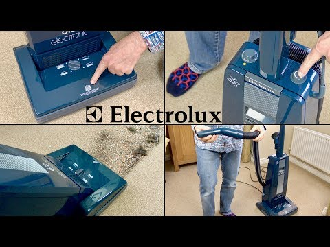 Vintage 1980's Electrolux Electronic 612 Upright Vacuum Cleaner Unboxing & Demo
