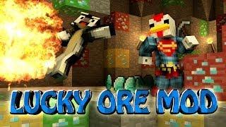 Minecraft | LUCKY ORE MOD Showcase! (Better Mining Mod, Random Ores, Lucky Blocks)