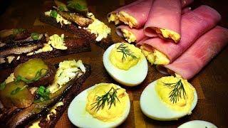 3 закуски к праздничному столу  Простые и быстрые в приготовлении закуски