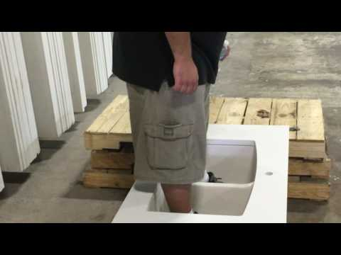 Jumping in a Cast Iron Sink Supported By Just 4 Keep-Nut Fasteners