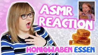 """ASMR-Live-Reaction zu """"Honigwaben essen"""" (Honeycomb eating Reaction auf deutsch)"""