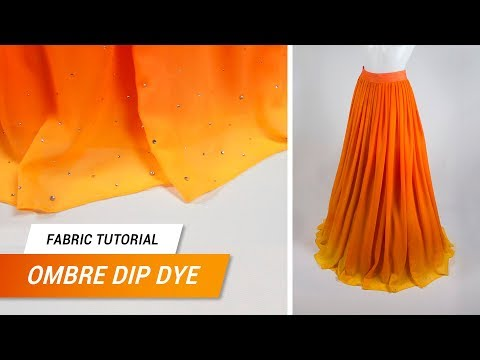 Fabric Tutorial - Ombre Dip Dye on synthetic fabrics | Jak Cosplay