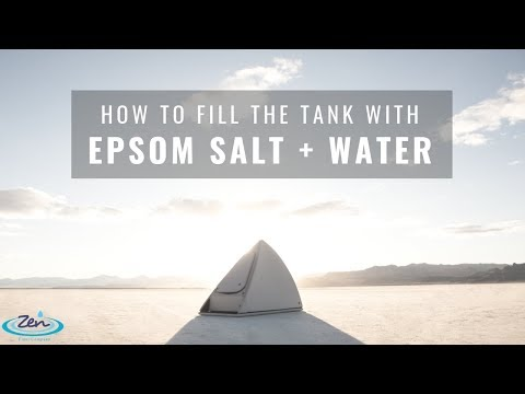 How To Fill Tank With Epsom Salt Water Solution