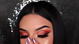 HOODED EYES| GLITTER CUT CREASE FOR NOOBS| MORPHE35O2