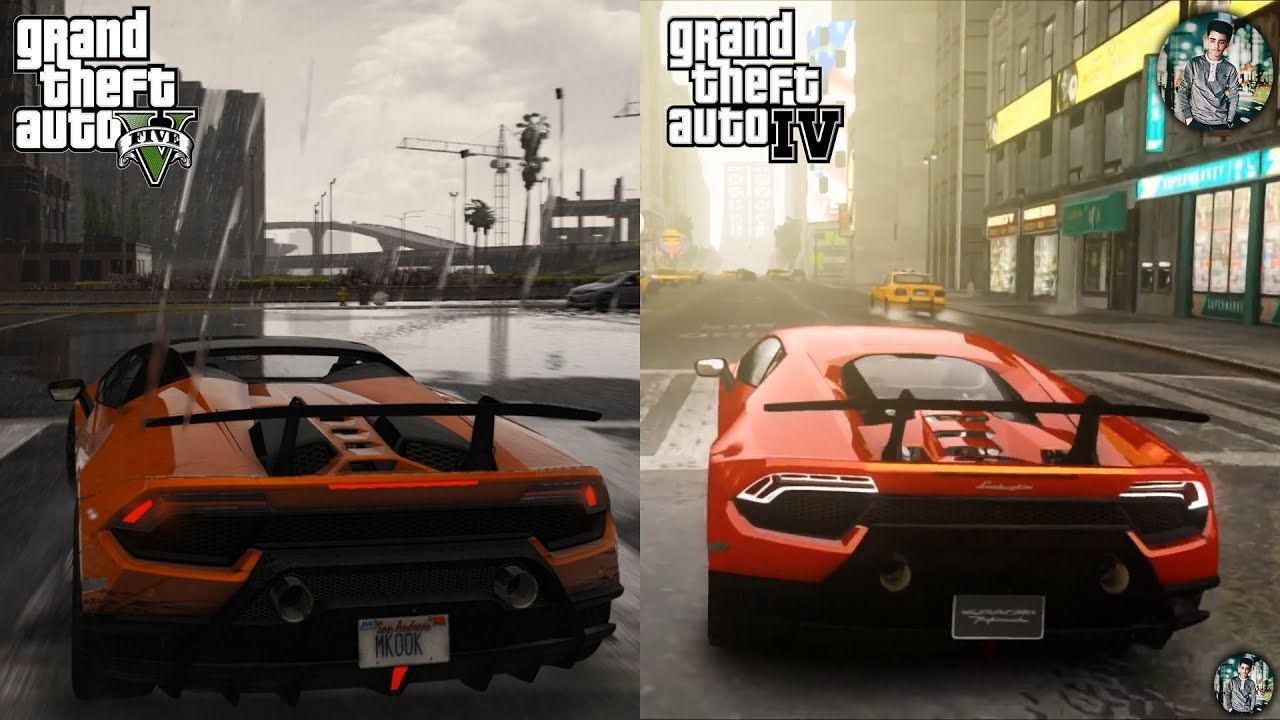 GTA 5 REDUX 1 5 2018 VS GTA 4 CryENB v3 2018 Ultimate Graphics comparison #3