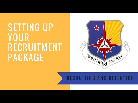 Setting up Your Recruitment Package