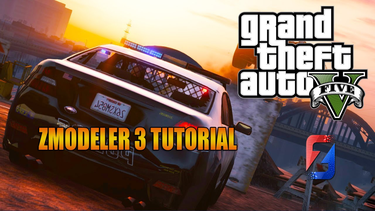 Zmodeler 3 tutorial: how to make a basic police car
